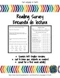 Bilingual Reading Survey - Encuesta de Lectura Bilingue -
