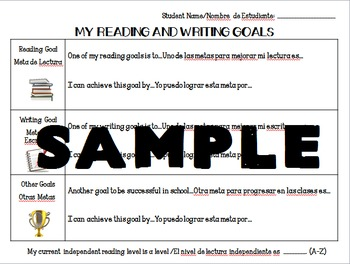 Bilingual ELA Reading and Writing Goals