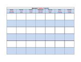 Bilingual (Really Multilingual!) Blank Calendar Template f