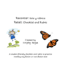 Bilingual Retell Checklist & Rubric
