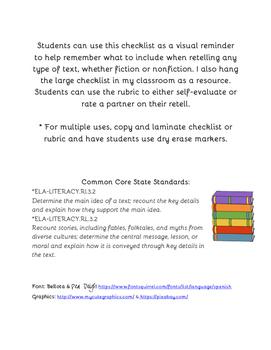 Bilingual Retell Checklist & Rubric
