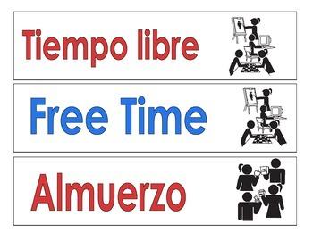 Bilingual Schedule Cards