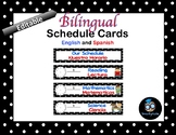 Schedule Cards--Bilingual and Editable--