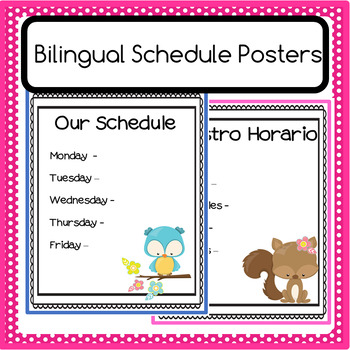 Bilingual Schedule Poster - Editable