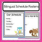 Bilingual Schedule Poster - Editable