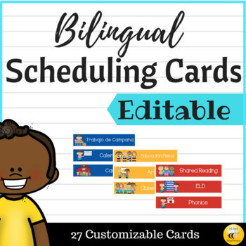 Bilingual Scheduling Cards {EDITABLE}