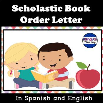 Bilingual Scholastic Book Order Letter