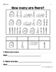 Bilingual School Counting Activity -Actividades de contar para de vuelta a clase