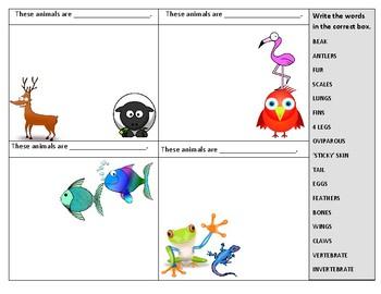 Bilingual Science Animals