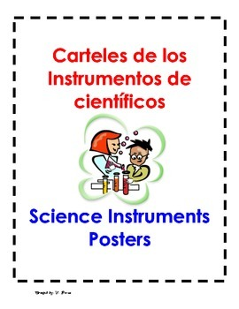 Bilingual Science Tools Posters for the classroom