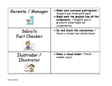 Bilingual Sentence Starters and Group Work Roles for Math