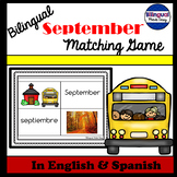 Bilingual September Vocabulary Matching Game in English & Spanish