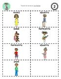 Bilingual Sequencing Cards: Las familias