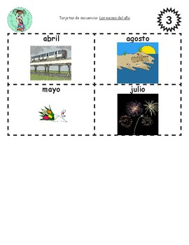 Bilingual Sequencing Cards: Los meses del año
