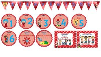 Bilingual Seuss Classroom Helper Set