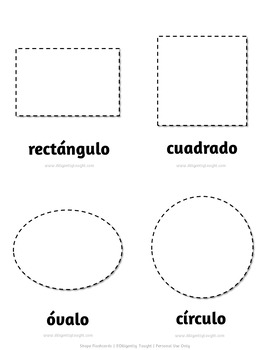 Bilingual Shape Flashcards Bundle - Learn and Trace - Full + Travel Size Cards