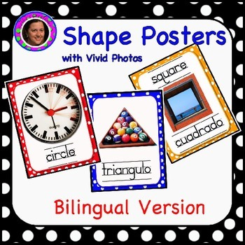 Bilingual Shape Posters with Vivid Photographs
