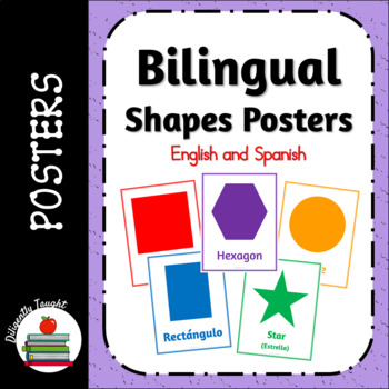 Bilingual Shapes Posters - English and Spanish - Fun, Simple, Totschool
