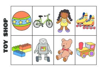 Bilingual Shop Megagame and Memory - Megajuego de Tiendas