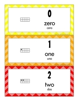 Bilingual Sight Word Word Wall Cards and Number Word Cards Bundle