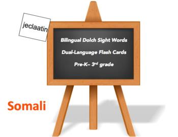 Bilingual Sight Words, Somali and English Flash Cards
