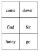 Bilingual Sight Words, Yoruba and English Flash Cards