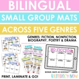 Bilingual Small Group Mats by Genre - Printable and Digital