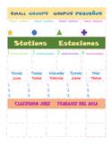 Bilingual Small Group and Job organizational Poster