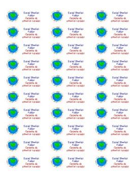 Bilingual Social Studies Folder Label