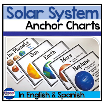 Solar System Anchor Chart Posters in English & Spanish: El sistema solar