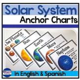 Solar System Anchor Chart Posters in English & Spanish: El