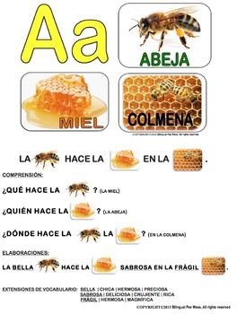 Bilingual Spanish Alphabet Conversation Cards