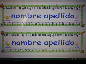 Bilingual Spanish Desk Name Plates