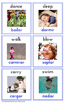 Bilingual Spanish - English Action Cards For Toddlers