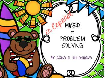 Bilingual (Spanish & English) Aug. Math Problem Solving TEKS based