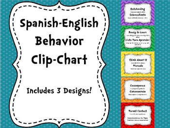Bilingual Spanish-English Behavior Chart