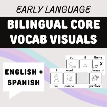 Bilingual (Spanish-English)  Core Vocabulary Phrase Strips