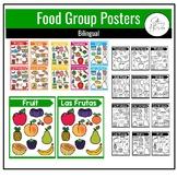 Spanish English Food Groups Posters