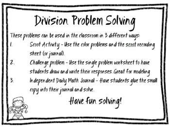 Bilingual (Spanish & English) Oct. Math Problem Multiplication & Division