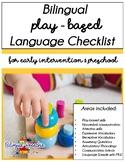 Bilingual (Spanish & English) Play-Based Language Checklist