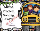Bilingual (Spanish & English) Sept. Math Problem Solving TEKS based