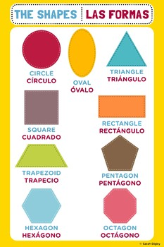 Bilingual Spanish/English Shapes Poster