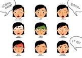 Bilingual Spanish + English emotions poster