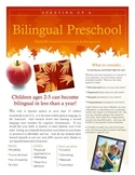 Bilingual Spanish Immersion Preschool Start Up