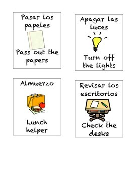 Bilingual Spanish Job Helpers