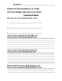Bilingual (Spanish) Kindergarten Homework 5