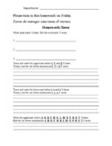 Bilingual (Spanish) Kindergarten Homework 8