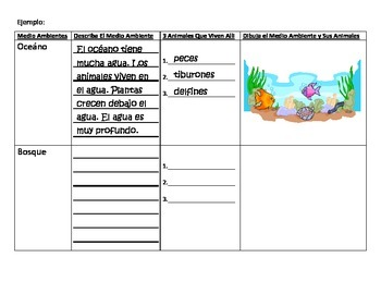 Bilingual Spanish Science - Animal Habitats (Habitats de Animales)