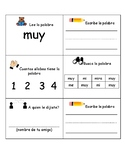 Bilingual-Spanish Sight Word Practice 3