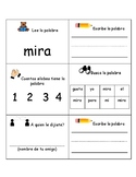 Bilingual-Spanish Sight Word Practice